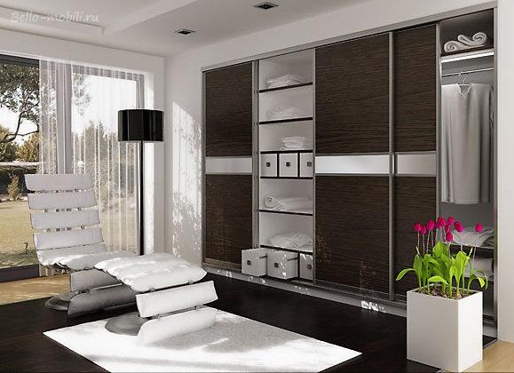 Дизайн внутри шкафа-купе для гостиной